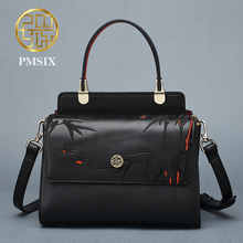 Pmsix 2017 Winter fashion leather bag fashion handbags Chinese style Genuine leather bags cowskin shoulder bag P120066
