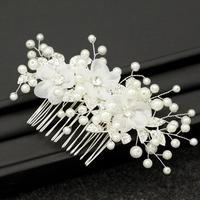 Korean Simple Snow Yarn Flower Bride Wedding Dress Style Headdress Comb Jewelry Accessories Dinner Bridesmaid Head