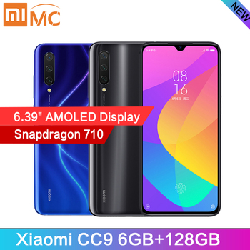 "Original Xiaomi CC9 6GB 128GB Snapdragon 710 AMOLED 6.39"" Mobile Phone Octa Core 48MP AI Camera 4030mAh Quick Charge Cellphone"