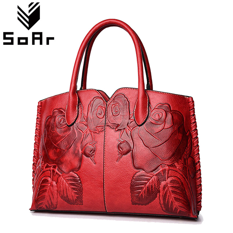 SoAr Floral Handbag Ethnic Style Women Messenger Bags High Quality Leather Large Capacity Ladies Tote Shoulder Bags Hot Sale New luxury chinese style women handbag embroidery ethnic summer fashion handmade flowers ladies tote shoulder bags cross body bags