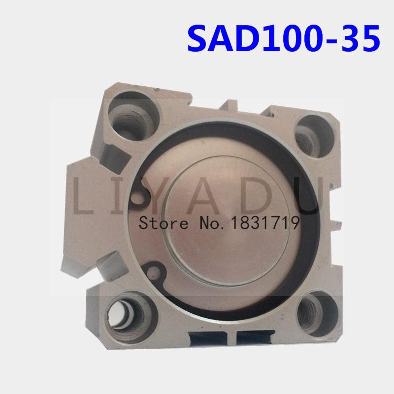SDA100 35 thin cylinder Series 100mm Bore 35mm Stroke SDA100 35 Aluminium alloy cylinder SDA100X35