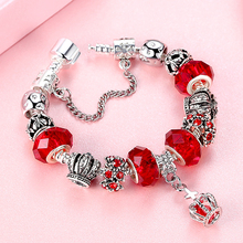 Silver Heart Charm Bracelet Jewelry for Women