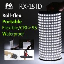 Falcon Eyes RX-18TD 100W 3000K-5600K Bi-color Portable Roll-Flex LED Photo Light with Soft box