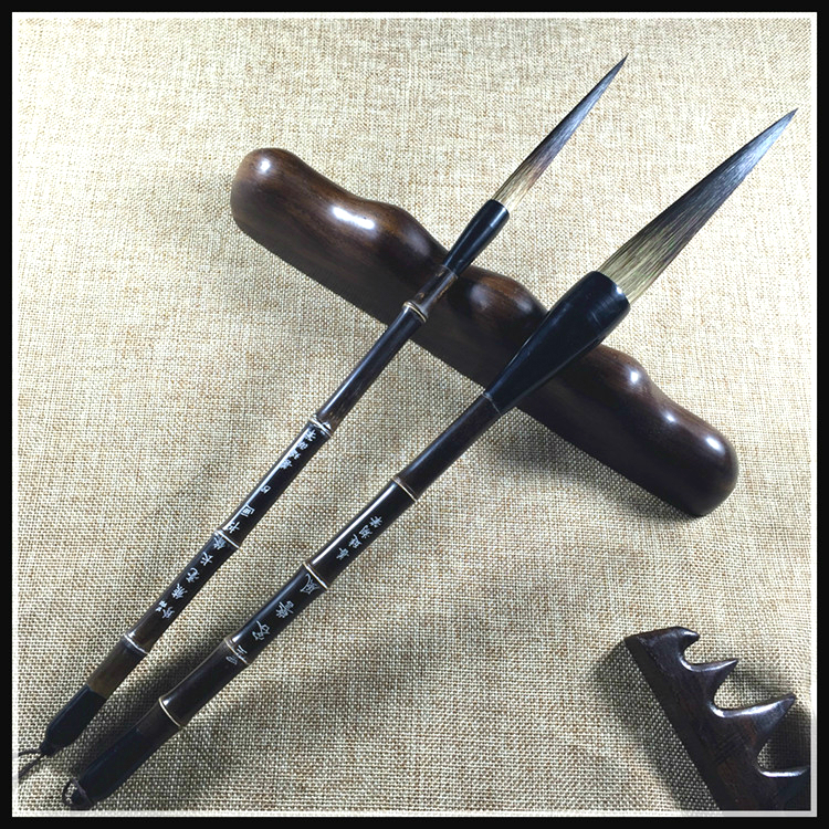 Long Calligraphy Pen Brush Pen Natural Bear Hair High Quality Calligraphy Writing Brushes Landscape Painting Brush 2pcs
