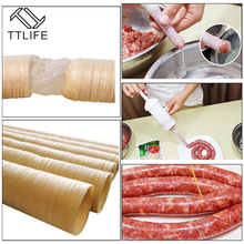 TTLIFE 26mm Roast Sausage Dried Skin Hot Dog Collagen Casing Shell Protein Casings Ham Tool
