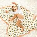 Nueva moda fruit bebé manta, Espesar 4 capas Bebé Muselina Swaddle manta, 120*120 cm de Algodón recién nacido mantas de bebé fotografía