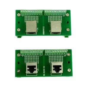 Секционная плата RJ45 8P8C, разъем RJ45 для соединения с клеммами, адаптер и 2*8 контактов, клеммные блоки, горизонтальное и вертикальное гнездо