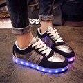 2016 Женщины Красочные светящиеся обувь с загорается светодиодный светящиеся обувь новый моделирование единственным led обувь для взрослых неон корзины привело