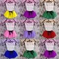 Летние девочки кружева топы ти бантом юбки устанавливает малышей младенческой рукавов футболки с коротким платье дети комплектов одежды 2 шт.