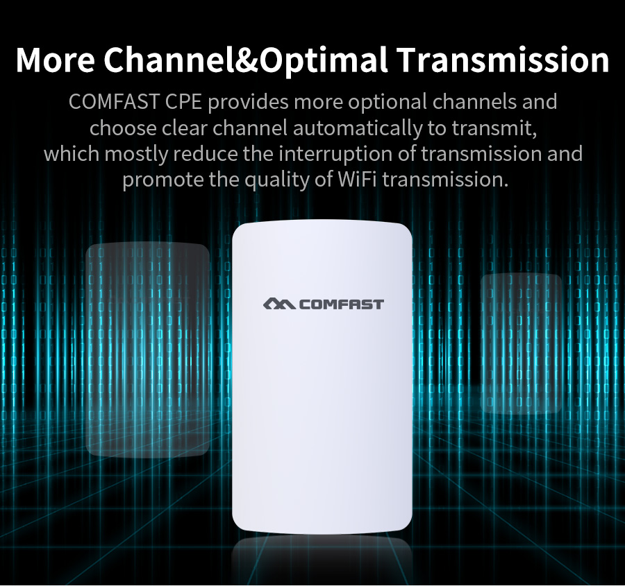 COMFAST mini wireless bridge 2.4ghz 300mbps outdoor CPE wifi router repeater for ip camera project 1-2km long range amplifier