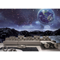 3D Custom Photo Mural Wallpaper For Walls Living Room Waterproof Space universe Planet Non woven fabric Printed Wall Papers 203