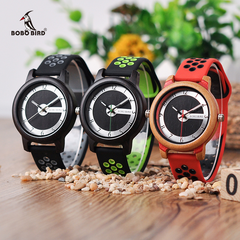 Relogio Masculino BOBO BIRD Silicone Watch Men Bamboo Wood Women Watches Quartz erkek kol saati Accept Logo Drop Shipping цена