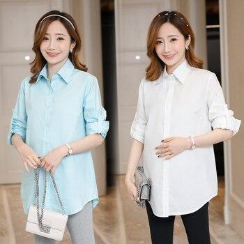 05e3ccb79 197   OL de maternidad de algodón blusas Formal de trabajo Oficina camisas ropa  para mujeres