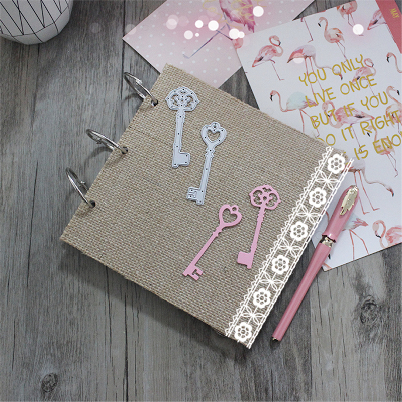 Key Metal Die Cutting Scrapbooking Embossing Dies Cut Stencils Decorative Cards DIY album Card Paper Card Maker snowflake hollow box metal die cutting scrapbooking embossing dies cut stencils decorative cards diy album card paper card maker