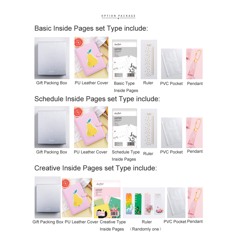 US $25 49 25% OFF|Lovedoki 2019 Korean Spiral Notebook bullet journal  Kawaii cute Weekly Planner A5A6A7 persoanl diary bts creative Stationery-in