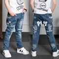 Retail nuevo bebé pantalones vaqueros frescos de primavera otoño ropa de los niños pantalones niño niños pantalones vaqueros pantalones del bebé de los niños