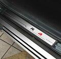 4 Entrada pçs/set plástico aço Inoxidável do Peitoril Da Porta Scuff Guarnição Placa para Toyota RAV4 RAV 4 2014 2015 2016 acessórios Do Carro styling