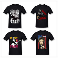 Men S Johnny Cash Guns To Town T Shirt Flipping The Bird Finger Adult Men S