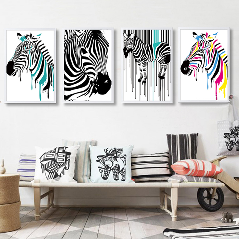 Superior Modern Zebra Canvas Painting Animals Posters Prints Nordic Decoration Wall  Art Pictures Office Living Room Home Decor Frameles In Painting U0026  Calligraphy ...