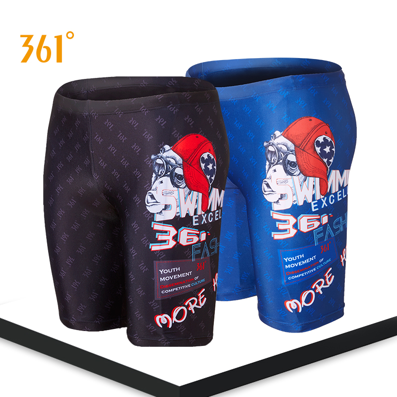361 Men Swimwear Tight Swim Shorts Professional Swimming Trunk For Men Large Size Swim Pants Swimsuit Boys Jammer Fro Training