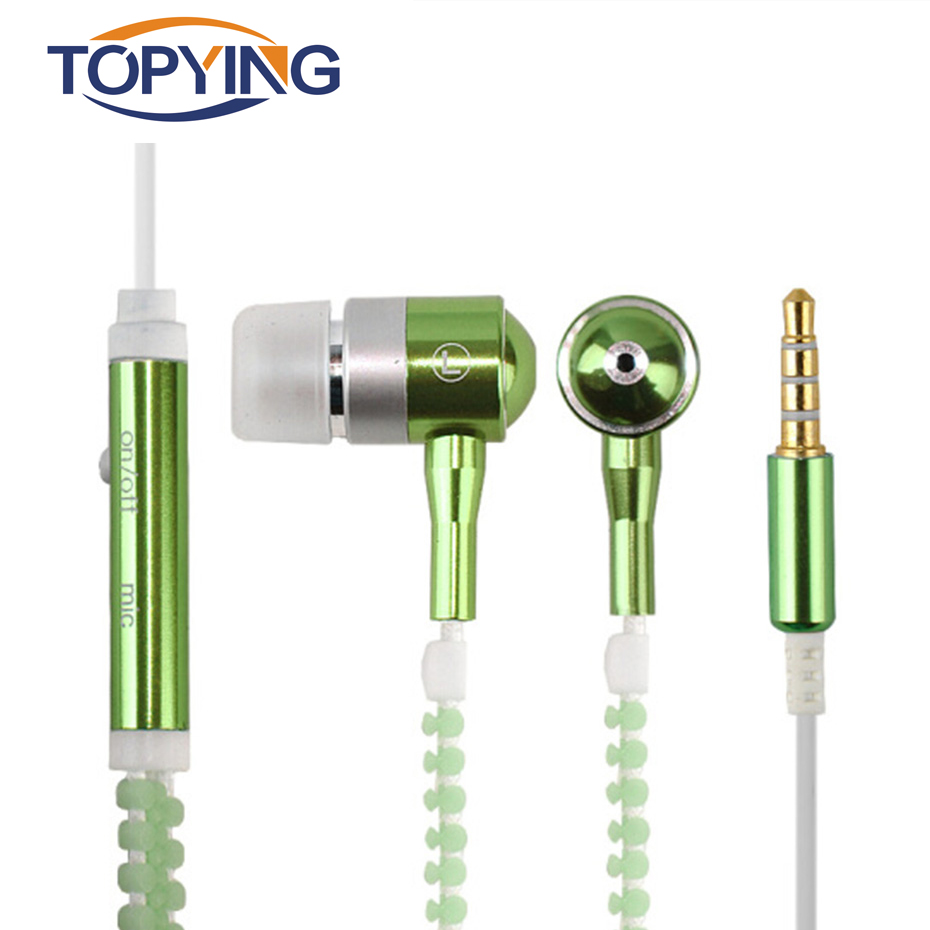TOPYING Earphone For Phone Ear Hook Earphone Gaming Luminous Sport Earphones For Phone Earphones With Mic