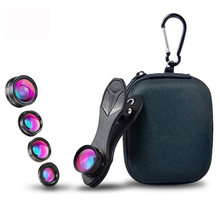 Universal Clip 5 in 1 Fish eye Lens Wide Angle Macro 2X Teleconverter CPL Mobile Phone Lens For iPhone 6s 7 6plus Samsung s8 стоимость