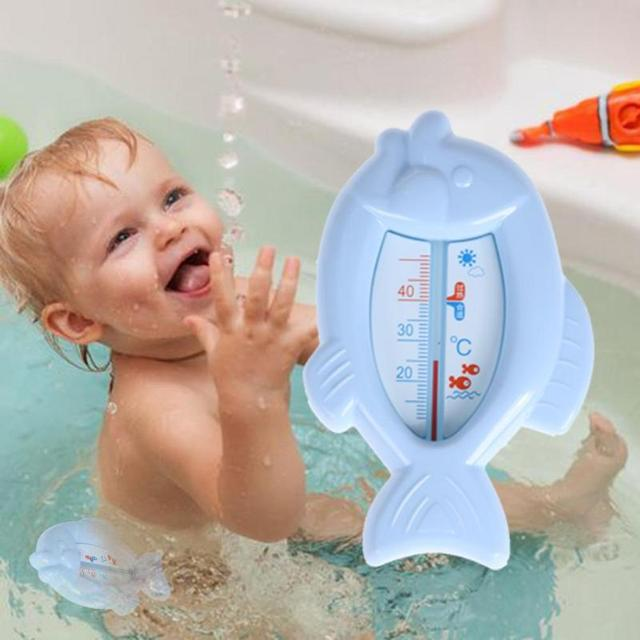 Mooie Baby Bad Thermometers Speelgoed Drijvende Water Thermometers Float Vis Vormige Veilig Plastic Bad Watering Sensor Thermometer 1