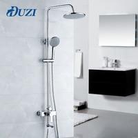 DUZI 1 Set Bathroom Rainfall Shower Faucet Set Single Handle Mixer Tap With Hand Sprayer Wall