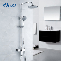 DUZI 1 Set Bathroom Rainfall Shower Faucet Set Single Handle Mixer Tap With Hand Sprayer Wall