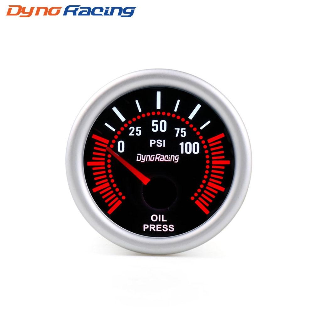 """Dynoracing """" 52 мм дымовая линза Boost gauge бар psi вакуумная температура воды Температура масла пресс вольтметр уровень топлива Тахометр Датчик Оборотов - Цвет: Oil press gauge PSI"""