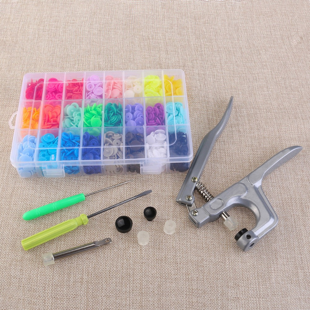 Sewing KAM Snaps Starter Kit 360 Set Size 20 with KAM Pliers