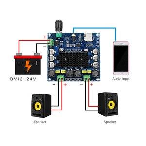 Image 3 - TDA7498 Bluetooth Verstärker Audio Board 2x50 W Stereo Digital Power Verstärker Modul Unterstützung Tf karte AUX Für Hause theater