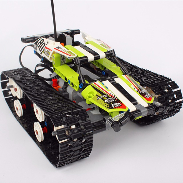 397Pcs Lepin 20033 Technic Series The RC Track Remote-control Race Car Building Blocks Brick Gifts Toys Compatible Legoed 42065 glow race track bend flex glow in the dark assembly toy 112 160 256 300pcs slot race track 1pc led car puzzle educational toys