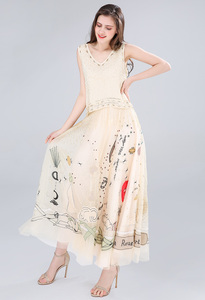 Image 4 - luxury skirt high quaity women embroidery mesh skirt