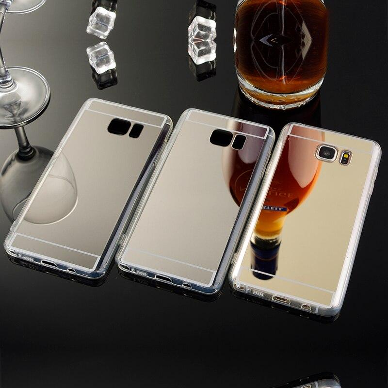 Note 3 4 5 Back Case for Samsung Galaxy Note 3 4 5 Cell Phone Case TPU Silicone Cover N9000 N9100 N9200 Etui Coque Espelhada Cas