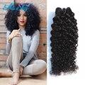 Индийский девы Необработанные человеческие волосы курчавые вьющиеся 1 пучок за лот 100% человеческих волос оптом лучшего качества волос в НЕБО МАГАЗИН