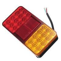 1Pcs LED 12V Car Rear Lights Tail Brake Stop Turn Indicator 24LED Lamps For Car Trailers