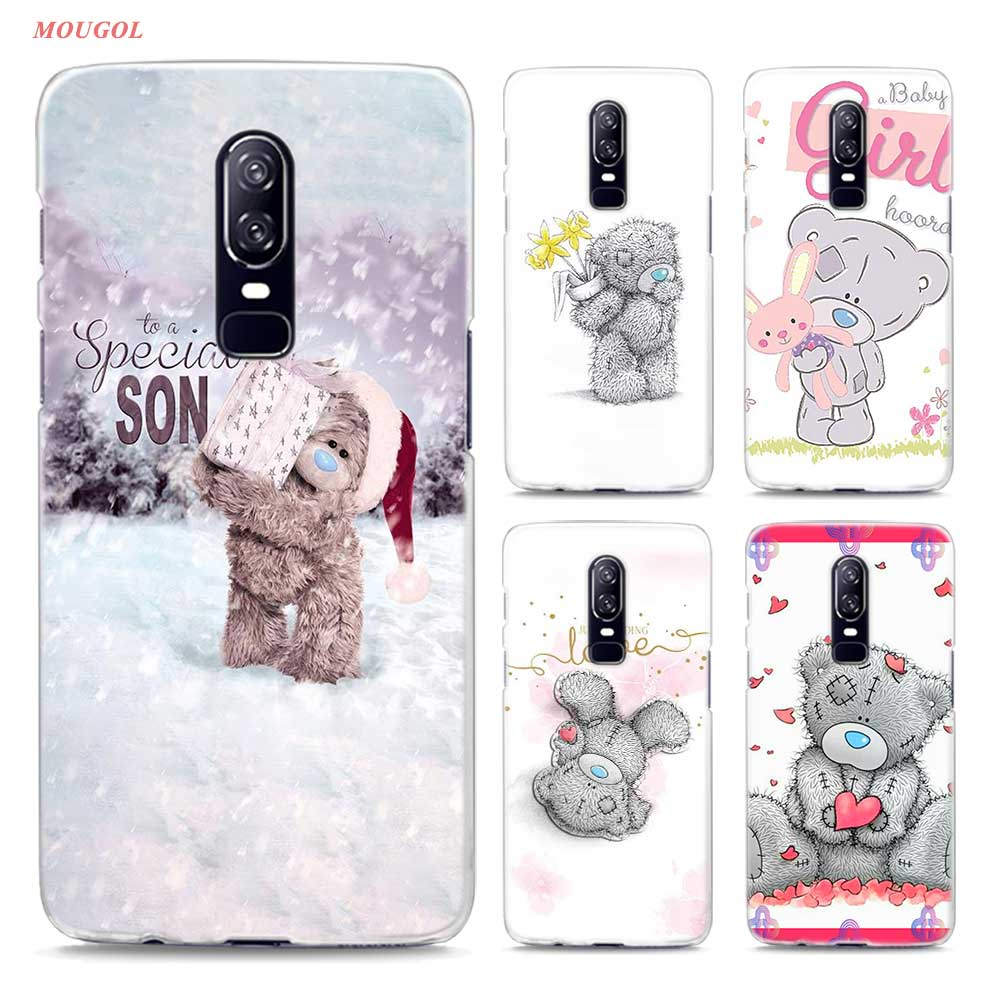 Transparent Hard <font><b>Case</b></font> For Oneplus 6 Cute Me To You <font><b>Bear</b></font> Printing <font><b>Drawing</b></font> Hard <font><b>Phone</b></font> <font><b>Cases</b></font> Cover For Oneplus 6