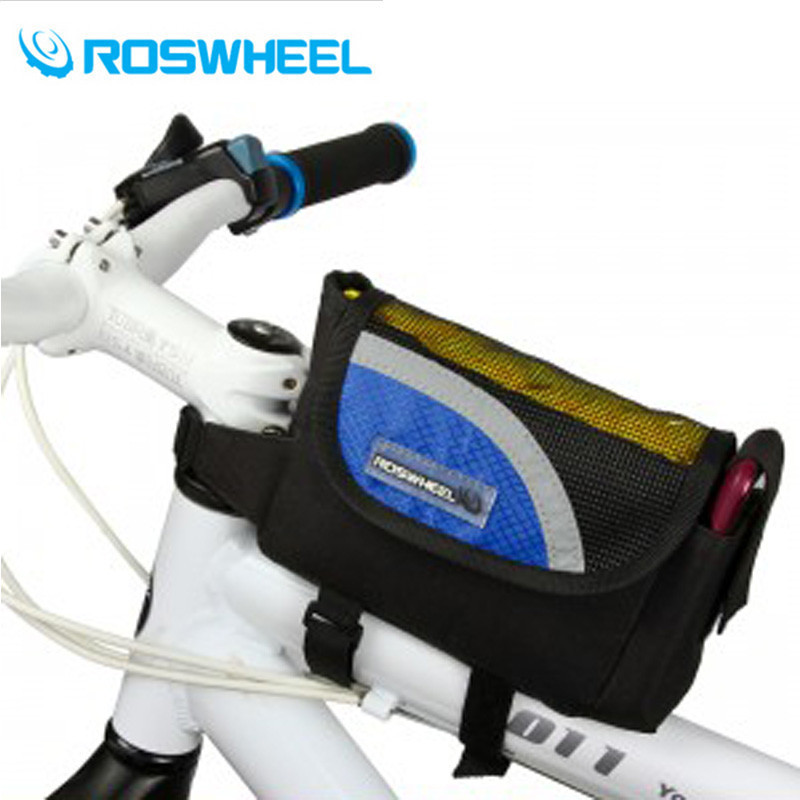 ROSWHEEL Bicycle Bags Cycling Bike Frame Front Top Tube Bags Holder Pannier Mobile Phone Bag Case Pouch Bike <font><b>Accessories</b></font>