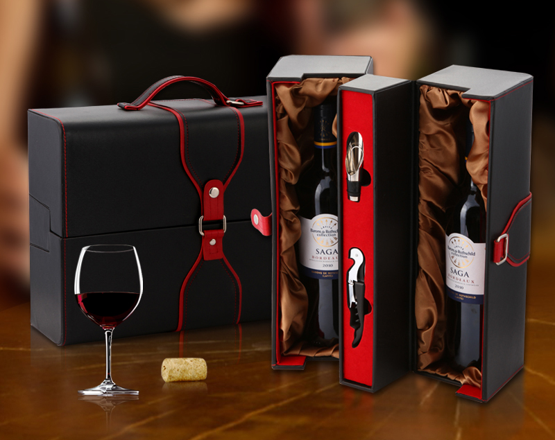 Us 28 63 High Grade Pu Leather Wine Gift Box Wine Case With Accessories Travel Wine Set On Aliexpress Com Alibaba Group