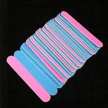 100/240 Grit Sanding Nail File 1.3x5cm 100pcs Pink/blue Two Colors Straight Edge Stick Nail Art Salon Glitter Tools