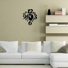 Modern Living Room Large wall clock Acrylic DIY Wall Clock Digit Clock Watch 3D Mirror Sticker Surface Europe Style wanduhr   BS