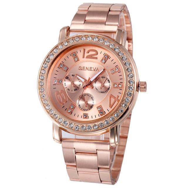 2018 Luxury watch women Stainless Steel Quartz-watch dress watches Women Lady Ro