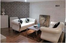 Moderna chesterfield sofá de cuero muebles de sala sofá #