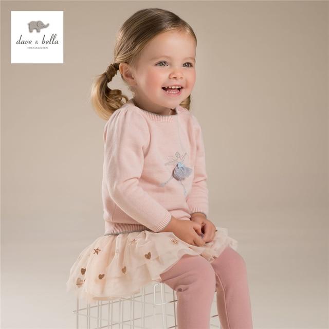 Db3989 Dave Bella Autumn Baby Girl Sweet Design Cardigan Toddler