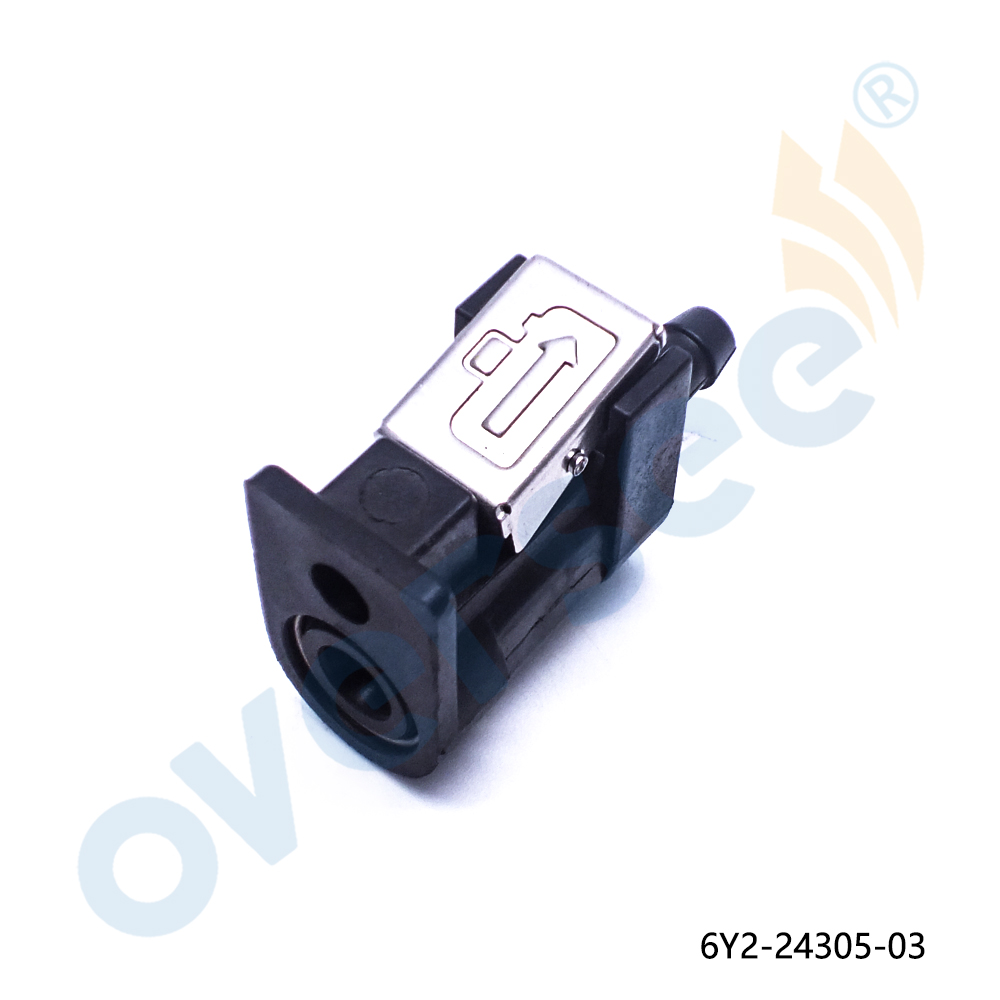 OVERSEE Fuel terminal 6Y2-24305-06-00 Fuel Pipe Joint Connector for Yamaha Outboard Engine Fule Horse