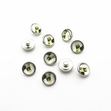 New Arrival 20pcs/lot 12mm Glass Snap Buttons Fit  DIY Bracelet Button Charms Jewelry