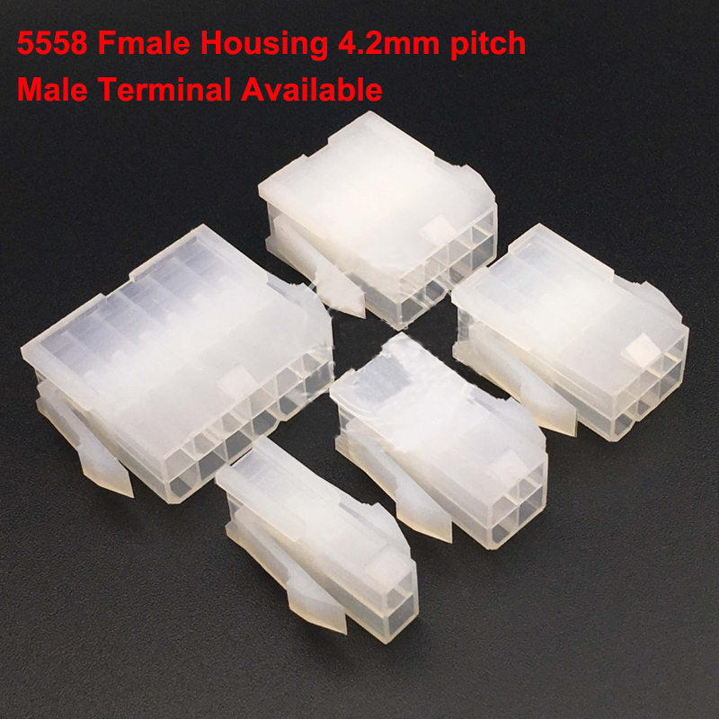 5558 5559 4 2mm Cable Jumper Wire Female Connector Leads Header Housing 2 to 24 pin 4 2mm Pitch Shell Male Terminal Available in Connectors from Lights Lighting