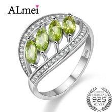 Almei Новый Перидот Цитрин Сапфир Обручальное кольцо Гранат подвеска стерлингового серебра 925 Для женщин Красивые ювелирные изделия с коробкой для дропшиппинг