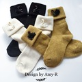 Wholesale Popular Fall Winter Handmade Thick Warm Wool Socks Ladies Swan Heap Warm Socks Piles Heap Ladies Socks 1Pair